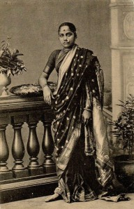 Marathi women in traditional Nauvari sari, India, 19th century