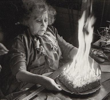 Burning Birthday Cake