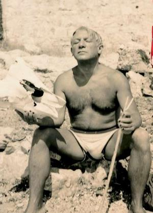 Picasso on the beach.