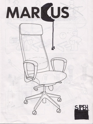 "When I saw it in the shop yesterday, this chair said: ""My Name Is Marcus And I Am A Serious Chair."""
