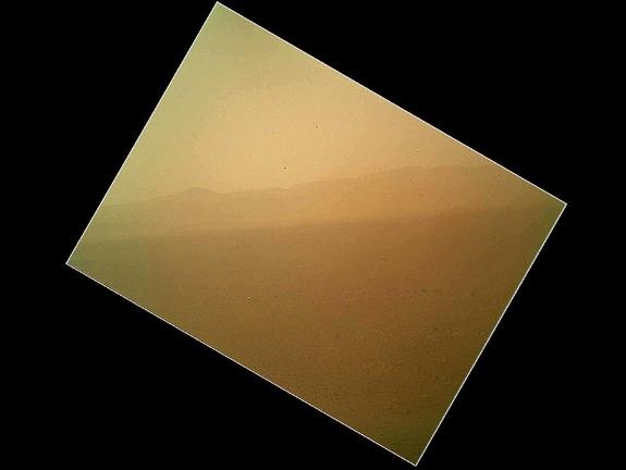 Mars in first color image sent back by Curiosity. Image credit: NASA/JPL-Caltech (via CNET)
