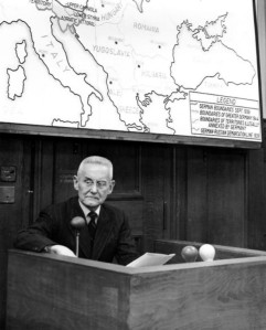 There are outlines and then there are outlines. Former German general Halder at the Nuremberg trials 1945.