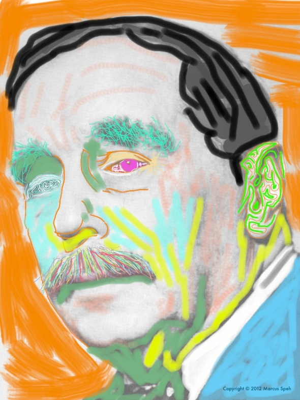 H.G. Wells colored © 2012 by Marcus Speh